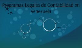Programas Legales de Contabilidad en Venezuela