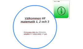 Introduktion till matematik 1, 2 och 3