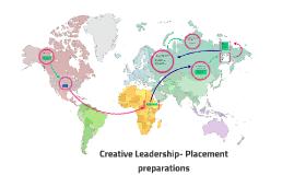 Creative Leadership- Placement preparations