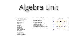 Algebra Unit on Straight Lines