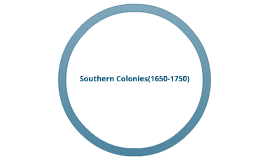 Southern Colonies (1650-1750)