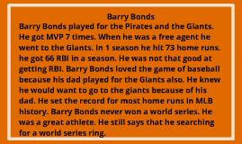 Copy of Barry Bonds