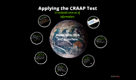 Hands-on Intro to CRAAP