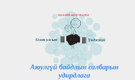 Copy of Аюулгүй байдлын салбарын удирдлага