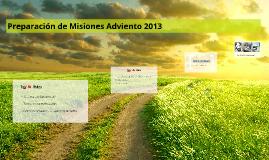 Preparación de Misiones Adviento 2013