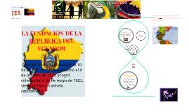 Copy of LA FUNDACIÓN DE LA REPUBLICA DEL ECUADOR