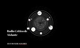 Radio Critico de Aislante