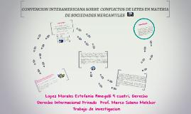 CONVENCION INTERAMERICANA SOBRE  CONFLICTOS DE LEYES EN MAT