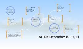 AP Lit: December 10, 12, 14