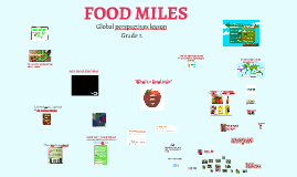 Global Perspectives Primary - Food miles