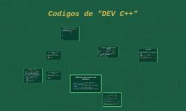 "Codigos de ""DEV C++"""