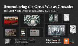 Remembering the Great War as Crusade