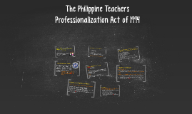 The Philippine Teachers Professionalization Act of 1994