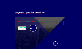 Programa Operativo Anual 2017