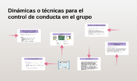 Copy of Dinámicas o técnicas para el control de conducta en el grupo