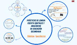 Copia de Prácticas de lengua escrita digitales y analógicas en educación secundaria