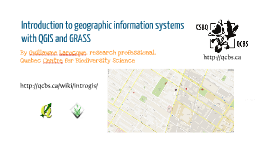 Copy of Introduction to Geographic Information Systems with QGIS