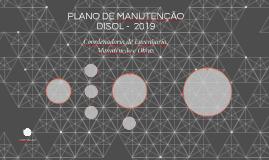 PLANO DE MANUTENÇÃO 2019