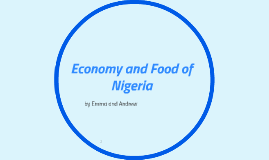 Economy and Food of Nigeria
