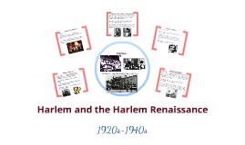 Harlem and the Harlem Renaissance