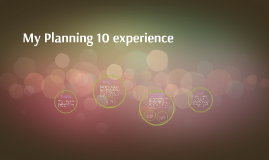 My Planning 10 experience