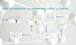 Copy of Taller de habilidades de pensamiento crítico y creativo