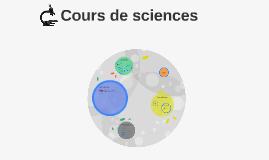 Cours de sciences