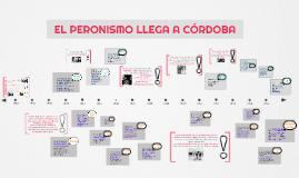 El peronismo llega a Córdoba