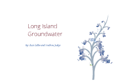 Long Island Groundwater
