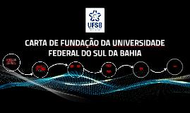 Carta de Fundação da UFSB