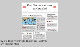 07.06 Theory of Plate Tectonics—Activity