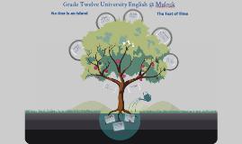 Copy of ENG4U1 - Grade Twelve University English @ Mulock