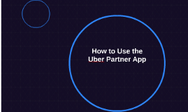 How to Use the Uber Partner App