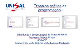 UNISAL - Trabalho de programação prático 1