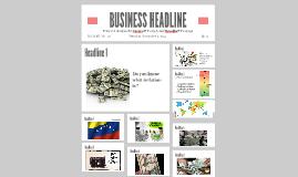BUSINESS HEADLINE