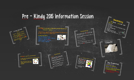 Pre - Kindy 2015 Information Session