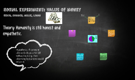 Social experiment: Value of money