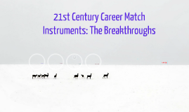 Copy of 21st Century Career Match Instruments: The Breakthrough