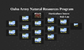Oahu Army Natural Resources Program