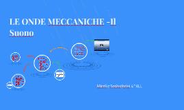 LE ONDE MECCANICHE -Il Suono