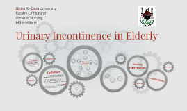Copy of Urinary Incontinence in Elderly