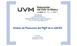 Modelos de Planeacion del PAFP de la ANUIES