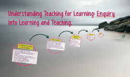 Understanding Teaching for Learning: Enquiry in Learning and