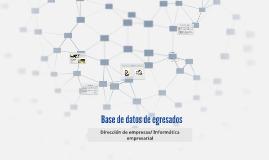 Base de Datos de egresados