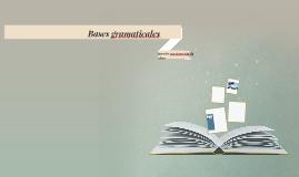 Bases gramaticales para la construcción de ideas