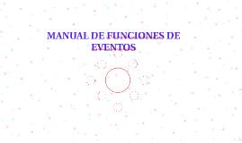 MANUAL DE FUNCIONES DE EVENTOS