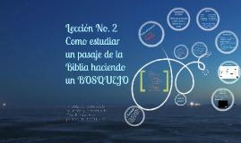Copy of Como estudiar un pasaje de la Biblia haciendo un BOSQUEJO