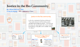 Justice in the Ibo Culture