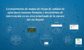 Levantamiento de mapas de riesgo de calidad de agua para con