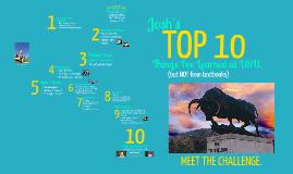 Josh's USU: TOP 10